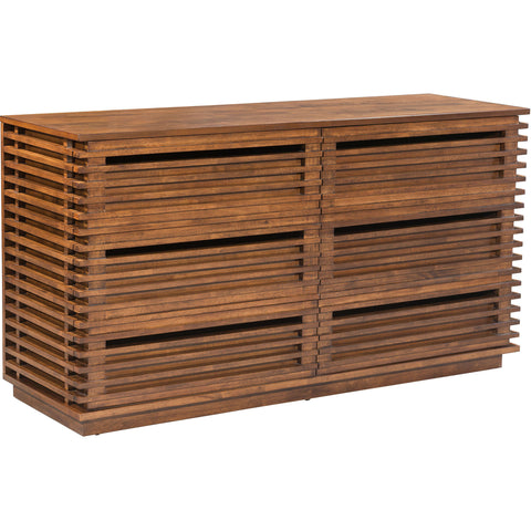 Linea Double Dresser, Walnut
