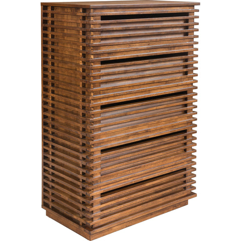 Linea High Chest, Walnut