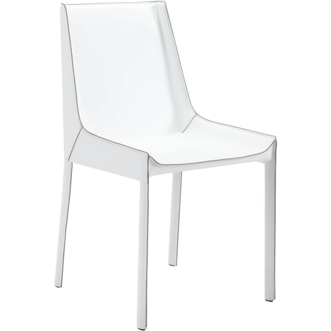 Fashion Dining Chairs, White (Set of 2)
