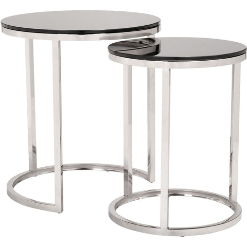 Rem Coffee Table Sets, Black & Stainless