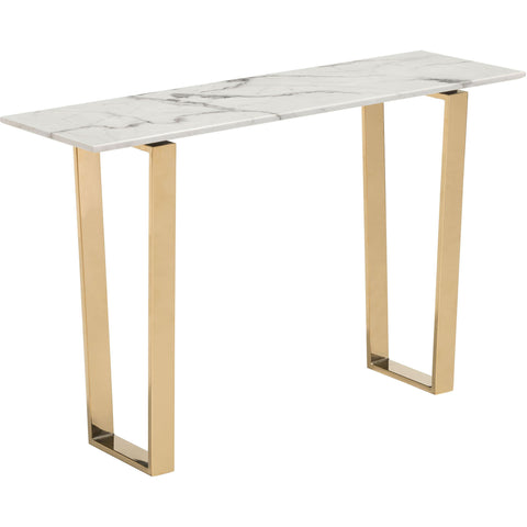 Atlas Console Table, Stone & Gold