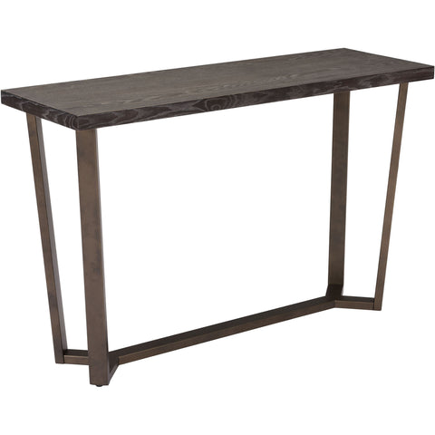 OSP Chase Round Accent Table, Brushed Black Finish