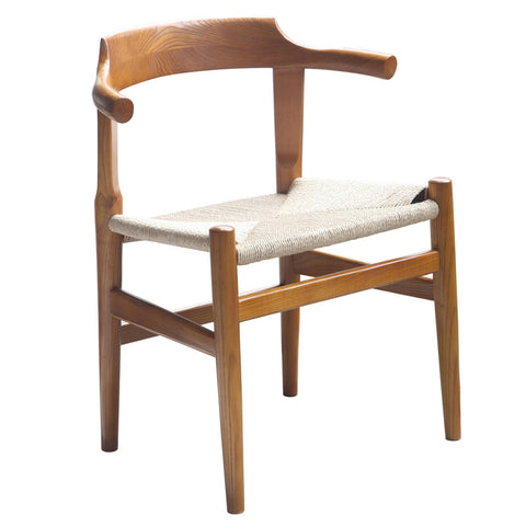 Stringta Solid Wood Dining Side Chair, Walnut