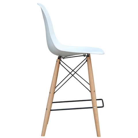 Woodleg Bar Chair, White