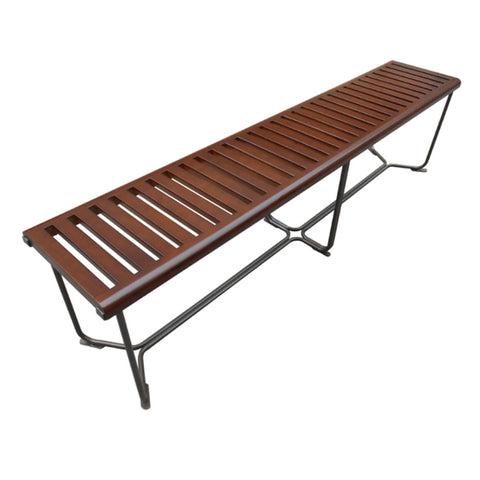 "Solid Wood Bench 72"", Brown"