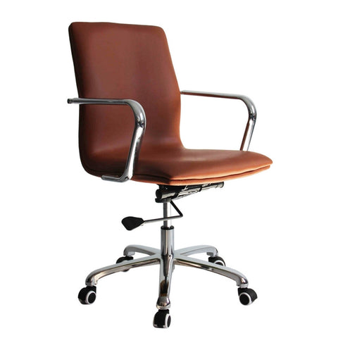 Confreto Conference Office Chair Mid Back, Light Brown