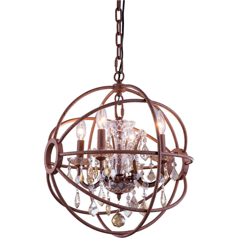 Azalea 1-Light Pendant, Gold Finish, Clear Crystal, Royal Cut
