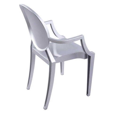 Clear Arm Chair, Silver