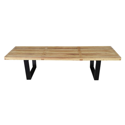 "Solid Wood Bench 60"", Natural"