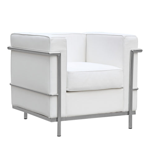 Cube Lc2 Petit Chair, White