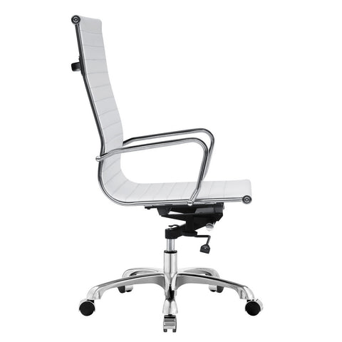Modern Conference Office Chair High Back, White
