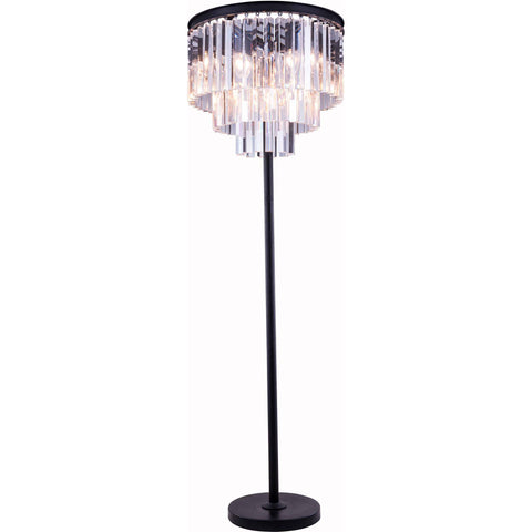 "Sydney 20"" Diam Floor Lamp, Mocha Brown Finish, Clear Crystal, Royal Cut"