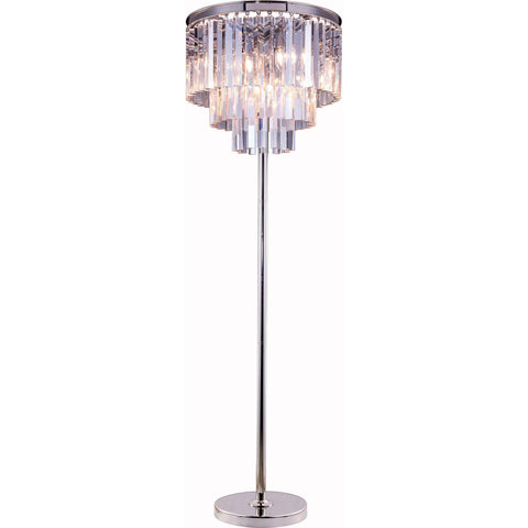 Opal Floor Lamp Antique Black Gold