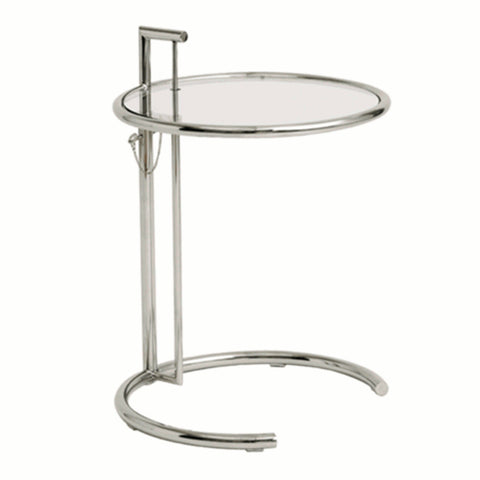 Round End Side Table, Clear