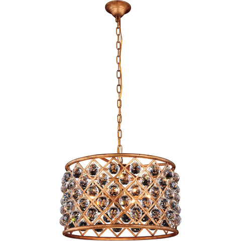 "Madison 20"" Diam Chandelier, Golden Iron, Clear Crystal, Royal Cut"