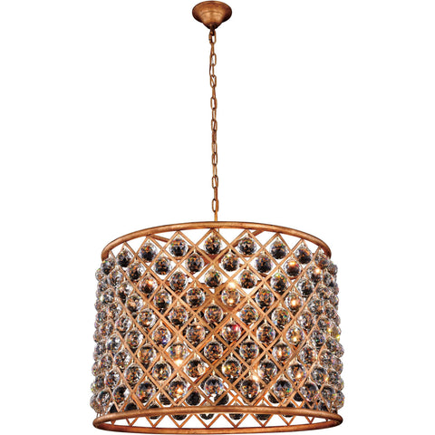 "Madison 27.5"" Diam Chandelier, Golden Iron, Clear Crystal, Royal Cut"