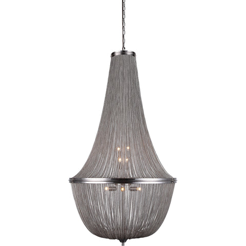 "Paloma 30"" Diam Chandelier, Pewter Finish"
