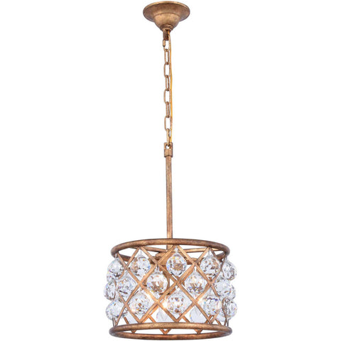 Amelia 3-Light Flush-Mount Light, Gold Finish, Clear Crystal, Royal Cut