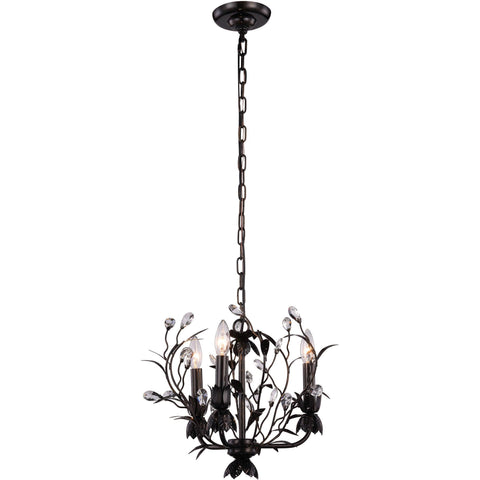 "Arbor 14"" Diam Chandelier, Golden Dark Bronze, Clear Crystal, Royal Cut"
