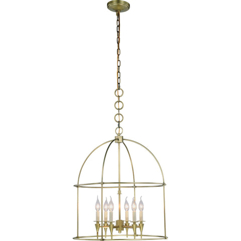 "Bavaria 24"" Diam Chandelier, Burnished Brass Finish"