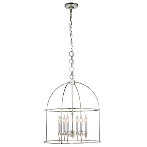 "Bavaria 24"" Diam Chandelier, Polished Nickel Finish"