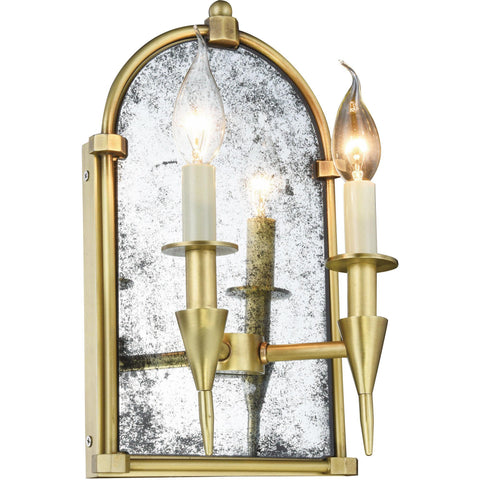"Bavaria 8"" W Wall Sconce, Burnished Brass Finish"