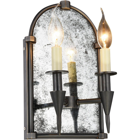 "Bavaria 8"" W Wall Sconce, Bronze Finish"