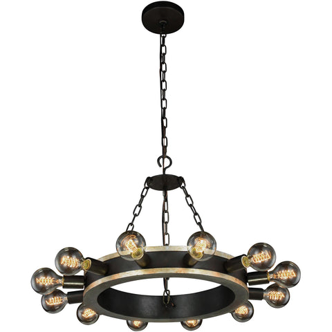 "Sydney 50"" L Chandelier, Mocha Brown, Silver Shade Crystal, Royal Cut"