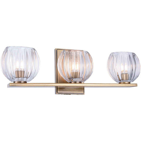 Monticello 3-Light Wall Sconce, Light Antique Brass Finish