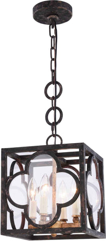 Trinity 4-Light Pendant, Aged Copper Finish