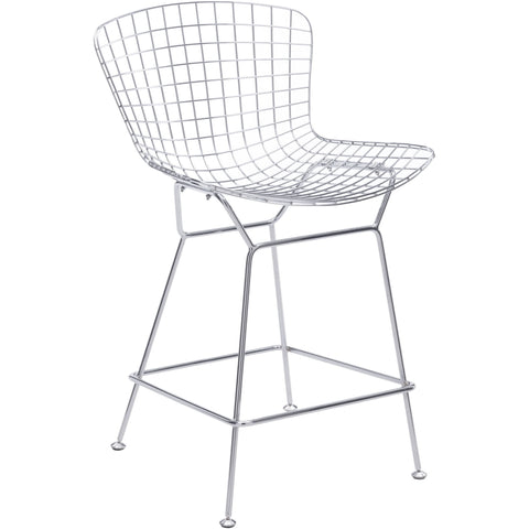 Wire Counter Chair Chrome (Set of 2)
