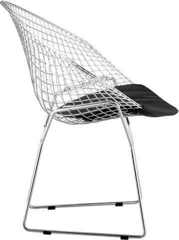 Net Dining Chair Black (Set of 2)