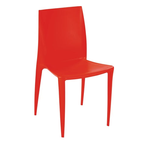 Square Dining Chair, Orange