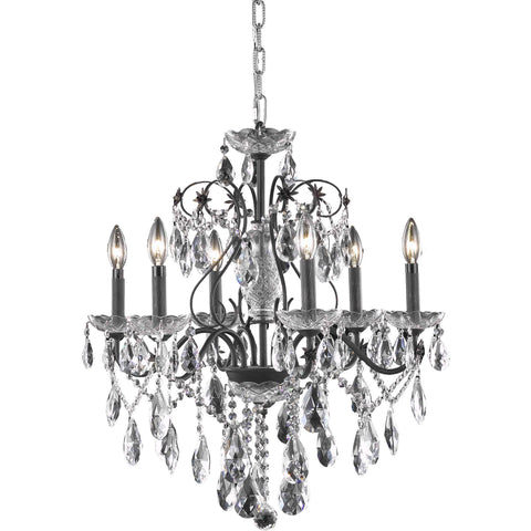 Maxwell 21-Light Chandelier, Polished Nickel Finish, Clear Crystal, Royal Cut