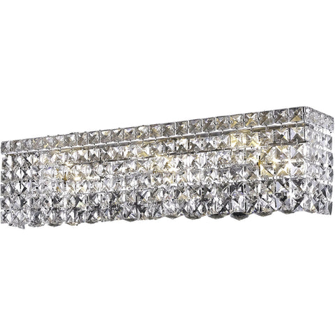 "Maxime 18"" L Wall Sconce, Chrome Finish, Clear Crystal, Elegant Cut"
