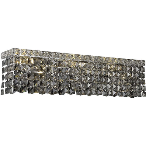 "Maxime 26"" L Wall Sconce, Chrome, Silver Shade Crystal, Royal Cut"