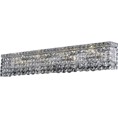 "Maxime 36"" L Wall Sconce, Chrome Finish, Clear Crystal, Elegant Cut"