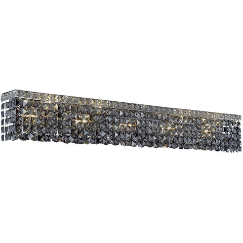 "Maxime 44"" L Wall Sconce, Chrome, Silver Shade Crystal, Royal Cut"