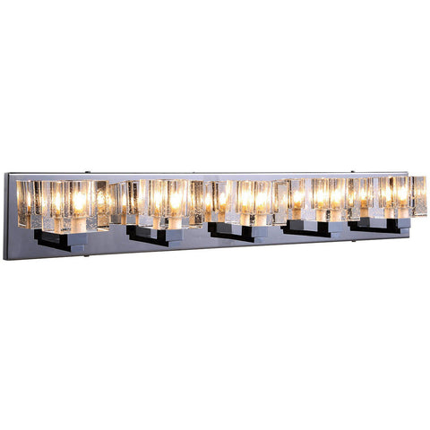 "Reflection 31.5"" L Wall Sconce, Chrome Finish, Clear Crystal, Royal Cut"