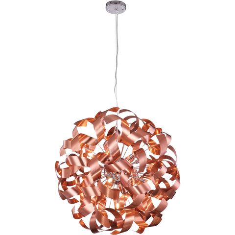 "Fusion 25"" Diam Chandelier, Brushed Copper Finish"