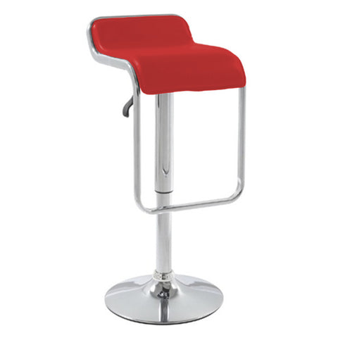 Flat Barstool Swivel Chair, Red
