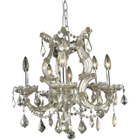"Maria Theresa 20"" Diam Chandelier, Golden Teak Crystal, Royal Cut"