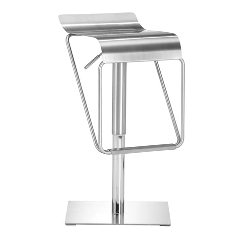 Dazzer Barstool Brushed Stainless Steel