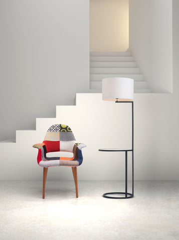 Swift Floor Lamp White & Black