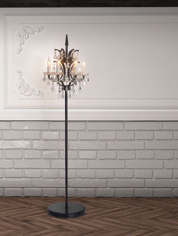 Phoenix Floor Lamp Distressed Black
