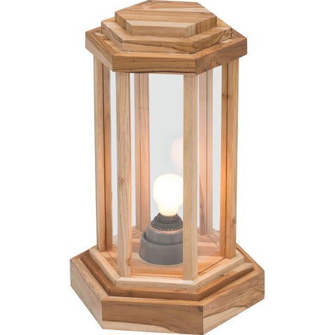 Latter Small Outdoor Floor Lamp, Natural