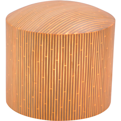 Wassu Illuminated Outdoor Stool, Natural