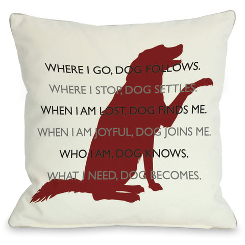"""Dog Codependent"" Indoor Throw Pillow by Dog is Good, 16""x16"""