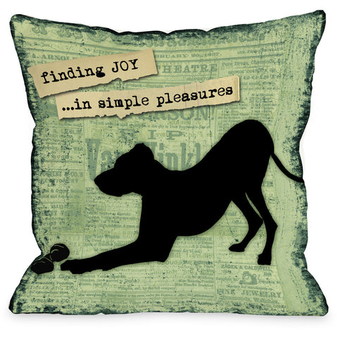 """Joy In Simple Pleasures"" Indoor Throw Pillow by Kate Ward Thacker, 16""x16"""