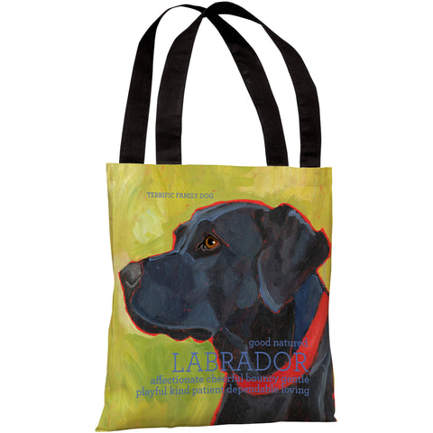"""Labrador Retriever"" 18""x18"" Tote Bag by Ursula Dodge"